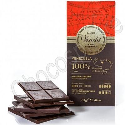 Venchi Venezuela 100% Cacao Single Origin Chocolate Bar