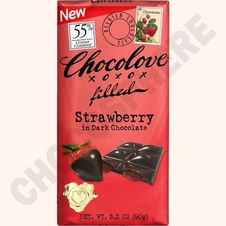 Strawberry Creme Dark Bar 3.2oz