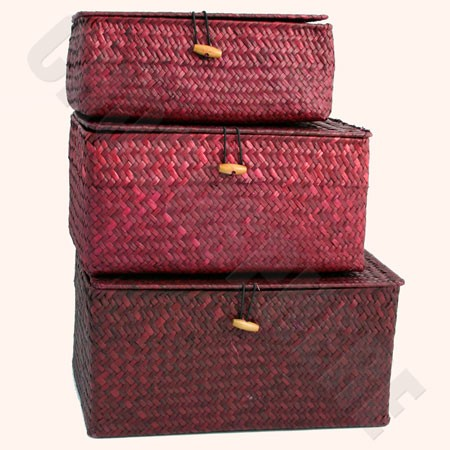 Maroon Wicker Gift Box – Add-on