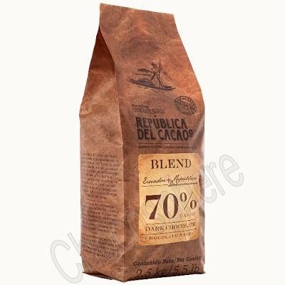 Republica del Cacao Ecuador-Dominican Republic 70% Cacao Buttons