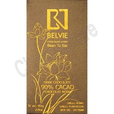 Dark 90% Cacao Chocolate Bar - 80g