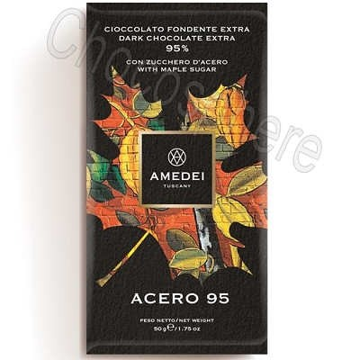 Acero 95 Extra Dark Chocolate Bar with Maple Sugar