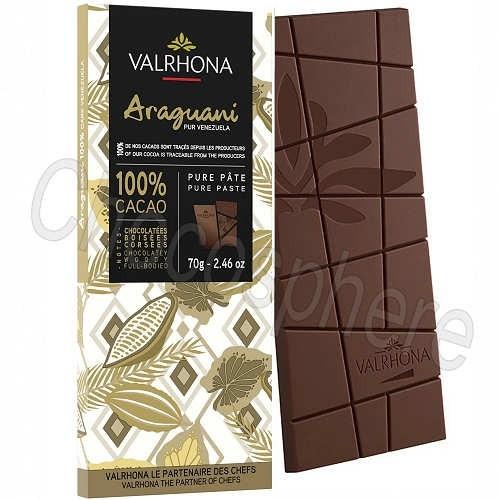 Araguani 100% Cacao Chocolate Bar 70g