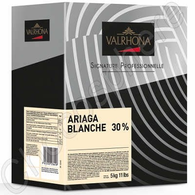 Ariaga Blanche 30% White Chocolate 5Kg