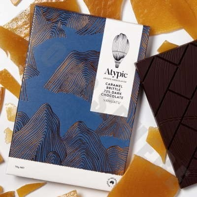 Caramel Brittle 72% Dark Chocolate Bar - 70g