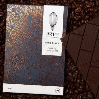 'Long Black' Coffee Dark Chocolate Bar - 70g