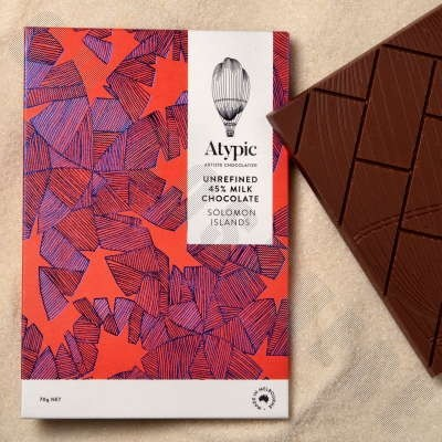 Unrefined 45% Milk Chocolate Bar - Solomon Islands - 70g