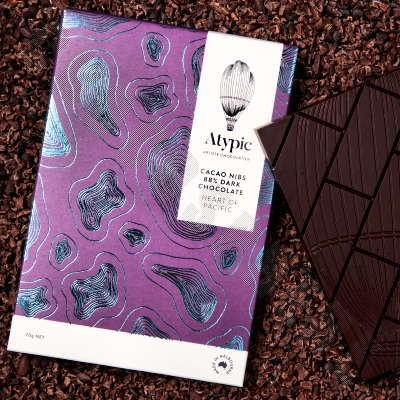 88% Dark Chocolate with Nibs Bar - Heart of Pacific - 70g