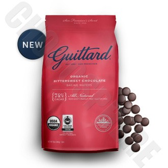 Guittard Organic Bittersweet Chocolate Baking Wafers