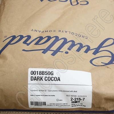 Guittard Cacao Noir Dark Cocoa Powder - 50 lb Bulk Bag of Black Cocoa