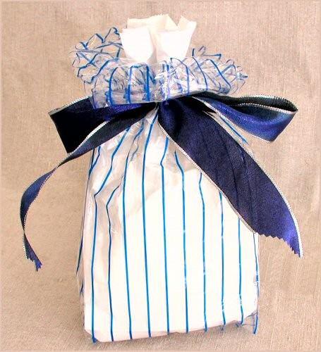 Blue-Stripe Gift Bag
