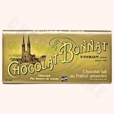 Milk Chocolate Almond Praline Bar 100g