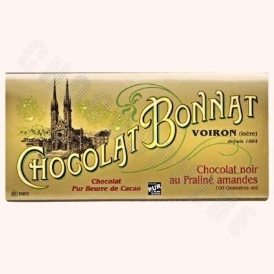 Dark Chocolate Almond Praline Bar 100g