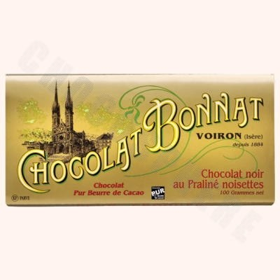 Dark Chocolate Hazelnut Praline Bar 100g