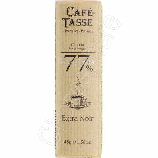 Cafe-Tasse 77% 45g Bar Extra Dark Chocolate