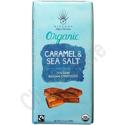 Organic Bar with Sea Salt and Caramel 3.5oz
