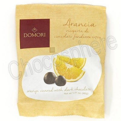 Chocolate Covered Orange Pieces (Dragees D'arancia Cubetti) – 40g