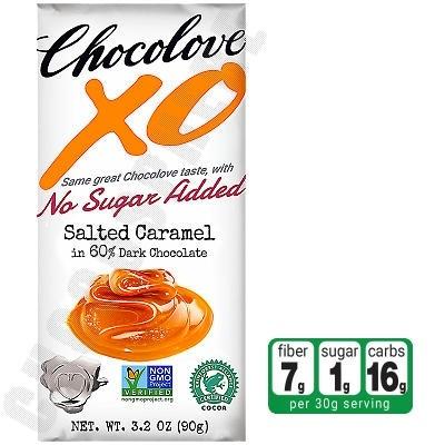 Salted Caramel in Dark Chocolate No-Sugar-Added Bar 3.2oz