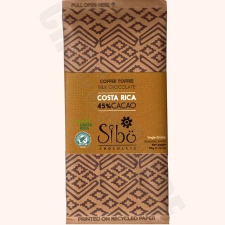 Coffee Toffee Chocolate Bar – 50g