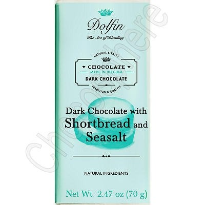 Dark Chocolate with Shortbread and Sea Salt