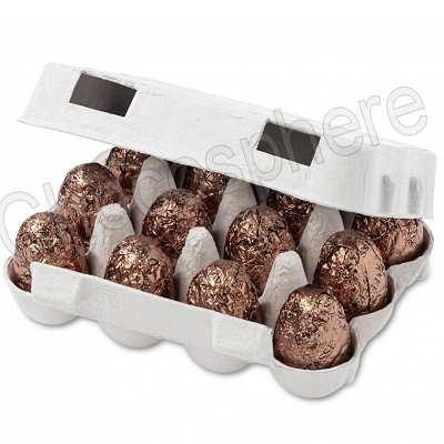'Carton' of 12 Dark Chocolate/Praline Eggs