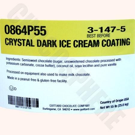 Crystal Dark Ice Cream Coating 55 lb Pail