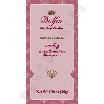Dark Chocolate with Figs & Fleur de Sel with Madagscan Vanilla Mini Bar 30g