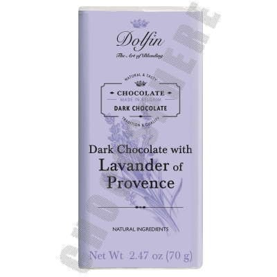 Dark Chocolate Bar with Lavender 70g