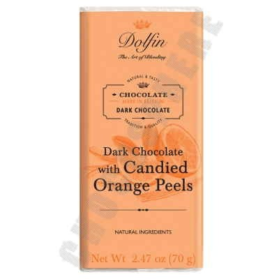 Dark Chocolate with Candied Orange Peels Bar 70g