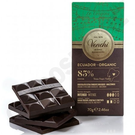 Venchi Ecuador 85% Cacao Single Origin Bio Chocolate Bar