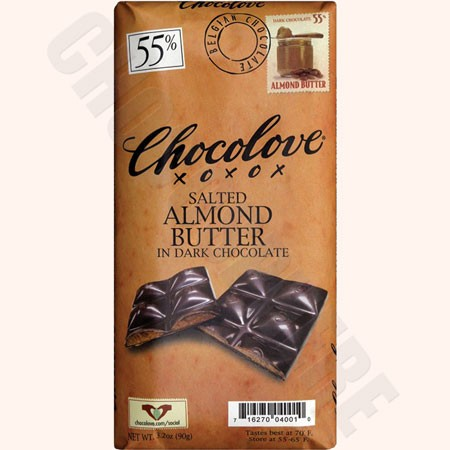 Chocolove Salted Almond Butter Dark Bar 3.2oz