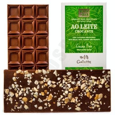 Crunchy Milk Chocolate with Nuts Bar
