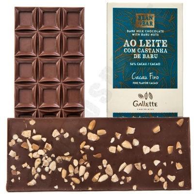 Dark Milk Chocolate with Baru Nuts Bar