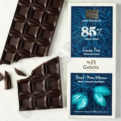 Brazil Atlantic Rainforest 85% Chocolate Bar - 100g