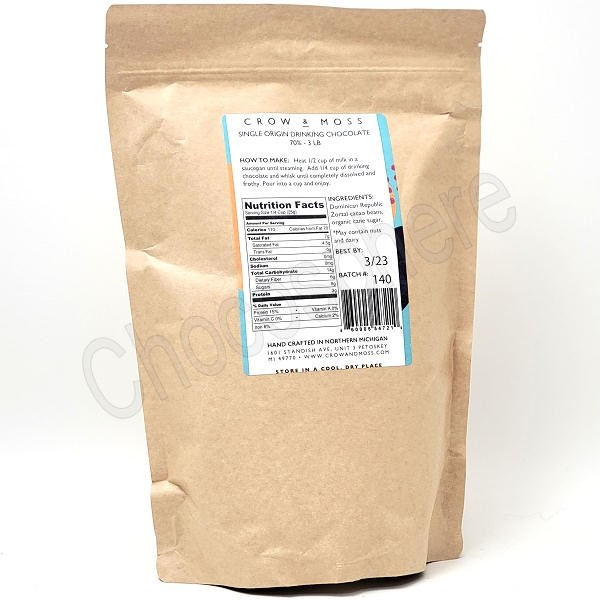 Drinking Chocolate 70% Cacao 3 Lb Bag