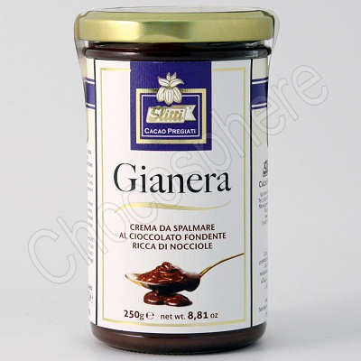 Slitti Gianera Dark Chocolate-Hazelnut Spread