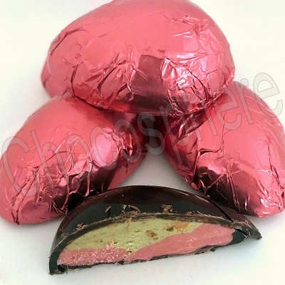 Strawberry-Pistachio Filled Half Egg