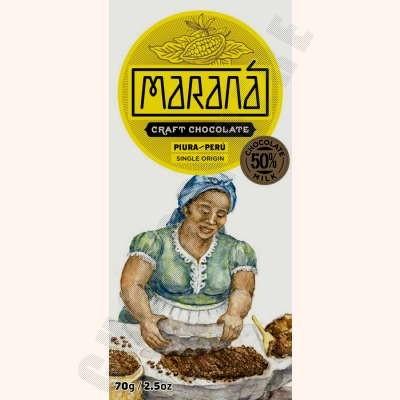 Piura Milk Chocolate Bar - 50% Cacao - 70g