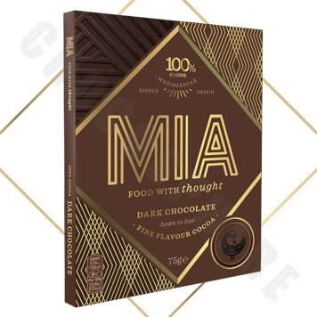100% Dark Chocolate Bar - 75g