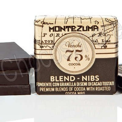 Grandblend Montezuma Dark 75% w/Nibs Napolitain Tasting Squares
