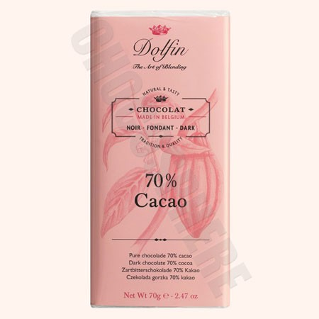 Dark 70% Cacao Chocolate Bar 70g