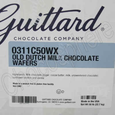 Old Dutch Milk Chocolate Wafers - 50 lb