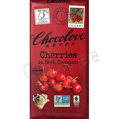 Organic Dark with Cherries Bar 3.2oz
