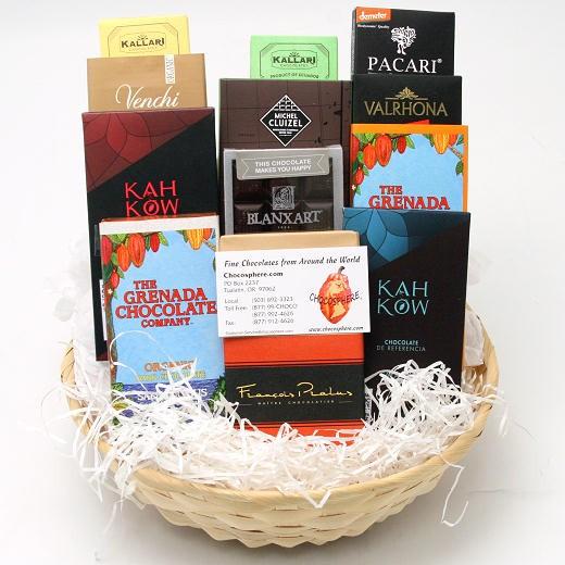 Chocosphere Organic Chocolate Assortment Basket 2014 - Large