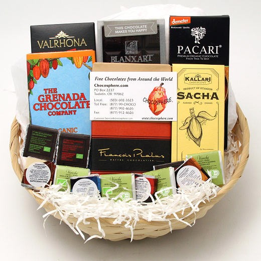 Chocosphere Organic Chocolate Assortment Basket 2014 - Small