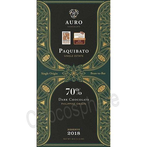 Paquibato 70% Dark Chocolate Reserve Bar