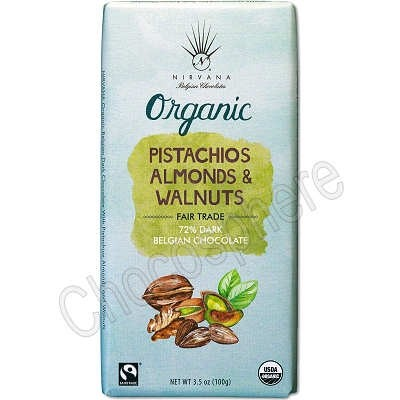 Organic Bar with Pistachios, Almonds and Walnuts 3.5oz