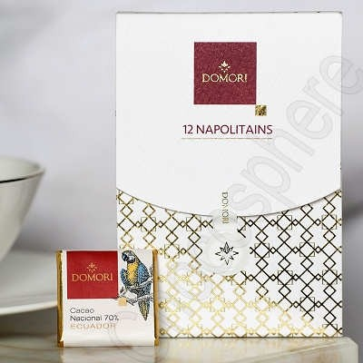 Gift Box of 12 Single Origin Dark Napolitains 55g