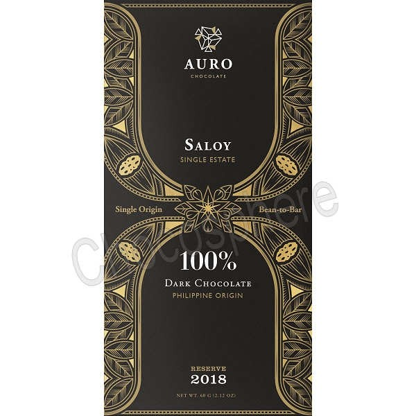 Saloy 100% Dark Chocolate Reserve Bar - 60g
