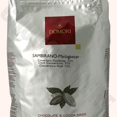 Sambirano 72% Couverture Discs– 5Kg